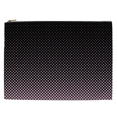 Halftone Background Pattern Black Cosmetic Bag (xxl)  by Nexatart