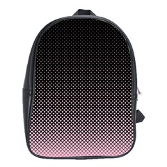 Halftone Background Pattern Black School Bag (xl)