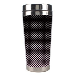 Halftone Background Pattern Black Stainless Steel Travel Tumblers