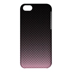 Halftone Background Pattern Black Apple Iphone 5c Hardshell Case by Nexatart