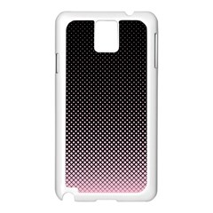 Halftone Background Pattern Black Samsung Galaxy Note 3 N9005 Case (white)