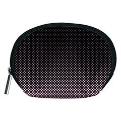 Halftone Background Pattern Black Accessory Pouches (medium)