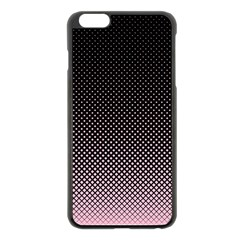 Halftone Background Pattern Black Apple Iphone 6 Plus/6s Plus Black Enamel Case by Nexatart