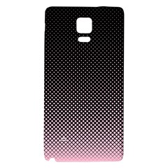 Halftone Background Pattern Black Galaxy Note 4 Back Case