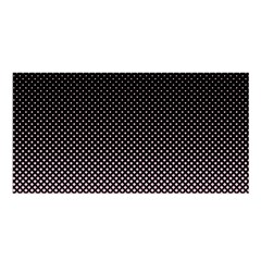 Halftone Background Pattern Black Satin Shawl