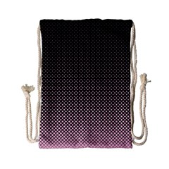 Halftone Background Pattern Black Drawstring Bag (small)