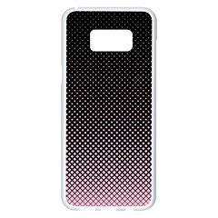Halftone Background Pattern Black Samsung Galaxy S8 Plus White Seamless Case