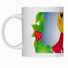 Bear Strawberries White Mugs by Nexatart
