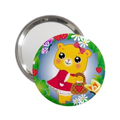 Bear Strawberries 2 25  Handbag Mirrors