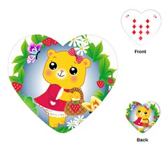 Bear Strawberries Playing Cards (heart)