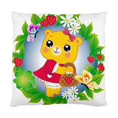 Bear Strawberries Standard Cushion Case (two Sides)