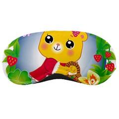 Bear Strawberries Sleeping Masks