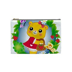 Bear Strawberries Cosmetic Bag (medium)