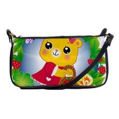 Bear Strawberries Shoulder Clutch Bags