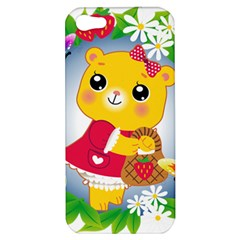 Bear Strawberries Apple Iphone 5 Hardshell Case