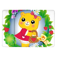 Bear Strawberries Samsung Galaxy Tab 10 1  P7500 Flip Case