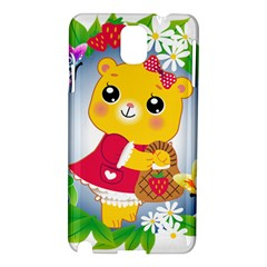 Bear Strawberries Samsung Galaxy Note 3 N9005 Hardshell Case