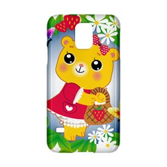 Bear Strawberries Samsung Galaxy S5 Hardshell Case