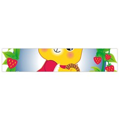 Bear Strawberries Flano Scarf (small)