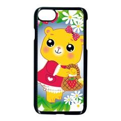 Bear Strawberries Apple Iphone 7 Seamless Case (black)