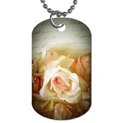 Roses Vintage Playful Romantic Dog Tag (one Side)