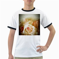 Roses Vintage Playful Romantic Ringer T Shirts