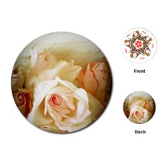 Roses Vintage Playful Romantic Playing Cards (round)