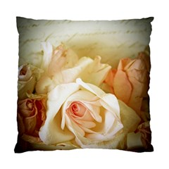Roses Vintage Playful Romantic Standard Cushion Case (one Side) by Nexatart