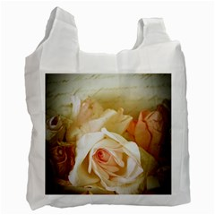Roses Vintage Playful Romantic Recycle Bag (one Side)