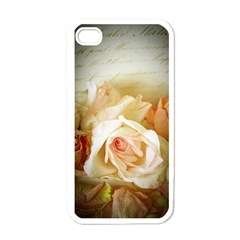 Roses Vintage Playful Romantic Apple Iphone 4 Case (white)