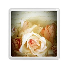 Roses Vintage Playful Romantic Memory Card Reader (square)  by Nexatart