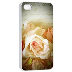 Roses Vintage Playful Romantic Apple Iphone 4/4s Seamless Case (white)