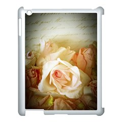 Roses Vintage Playful Romantic Apple Ipad 3/4 Case (white) by Nexatart