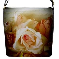 Roses Vintage Playful Romantic Flap Messenger Bag (s)
