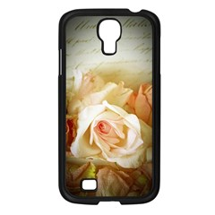 Roses Vintage Playful Romantic Samsung Galaxy S4 I9500/ I9505 Case (black) by Nexatart