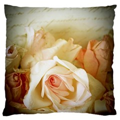 Roses Vintage Playful Romantic Standard Flano Cushion Case (one Side) by Nexatart