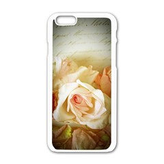 Roses Vintage Playful Romantic Apple Iphone 6/6s White Enamel Case by Nexatart