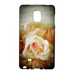 Roses Vintage Playful Romantic Galaxy Note Edge by Nexatart