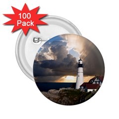 Lighthouse Beacon Light House 2 25  Buttons (100 Pack)