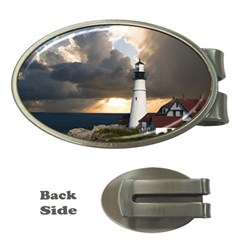 Lighthouse Beacon Light House Money Clips (oval)  by Nexatart