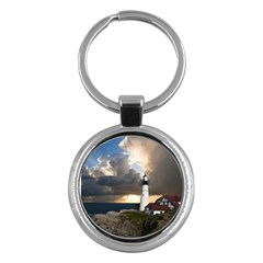 Lighthouse Beacon Light House Key Chains (round)