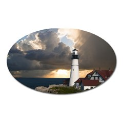 Lighthouse Beacon Light House Oval Magnet