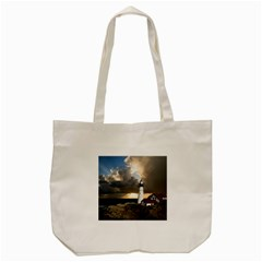 Lighthouse Beacon Light House Tote Bag (cream)
