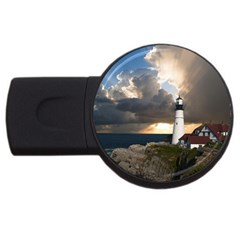 Lighthouse Beacon Light House Usb Flash Drive Round (4 Gb)