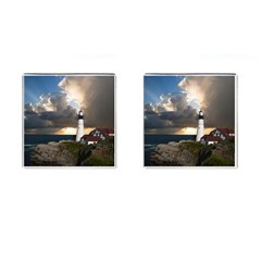 Lighthouse Beacon Light House Cufflinks (square)