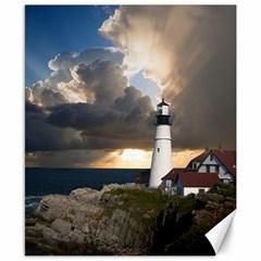 Lighthouse Beacon Light House Canvas 8  X 10  by Nexatart