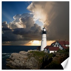 Lighthouse Beacon Light House Canvas 12  X 12
