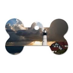 Lighthouse Beacon Light House Dog Tag Bone (one Side)