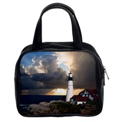 Lighthouse Beacon Light House Classic Handbags (2 Sides) by Nexatart
