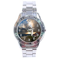 Lighthouse Beacon Light House Stainless Steel Analogue Watch